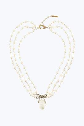 Marc Jacobs Twisted Bow Statement Collar Necklace