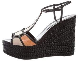Sergio Rossi Snakeskin T-Strap Sandals