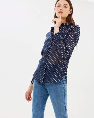 Warehouse Textured Spot Blouse