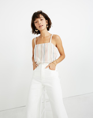 Madewell Side-Button Cami Top in Flecked Rainbow Stripe