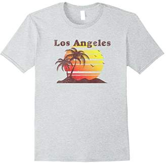 Vintage Distressed Los Angeles T-Shirt - Sunset Palm Trees