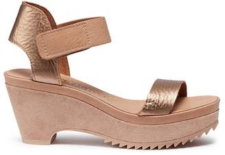 Pedro Garcia 'Franses' suede leather wedge sandals