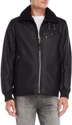Michael Kors Faux Shearling Bomber Jacket