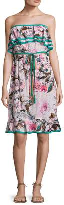 Plenty by Tracy Reese Women's Floral Print Flounce Dress