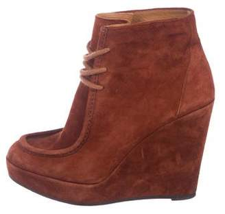 Barneys New York Barney's New York Suede Wedge Ankle Boots