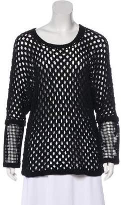 Yigal Azrouel Long Sleeve Open Knit Sweater