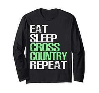 Eat Sleep Cross Country Repeat T-Shirt - Sport Gift Shirt