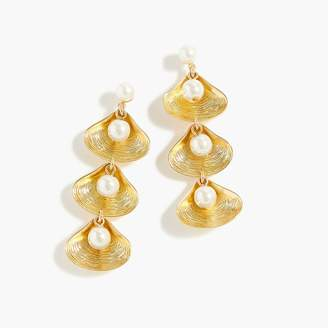 J.Crew Shell-and-pearl drop earrings