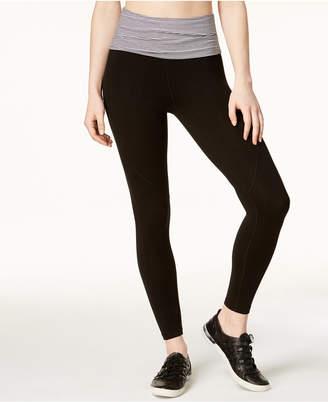 Calvin Klein Fold-Over Waistband Ankle Leggings