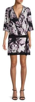 Roberto Cavalli Animal-Print Belted Wrap Dress