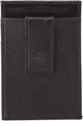 Original Penguin Men's Leather Front Pocket Wallet