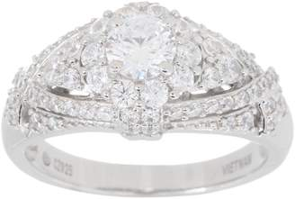 Diamonique Royal Collection Tiara Ring, Sterling Silver