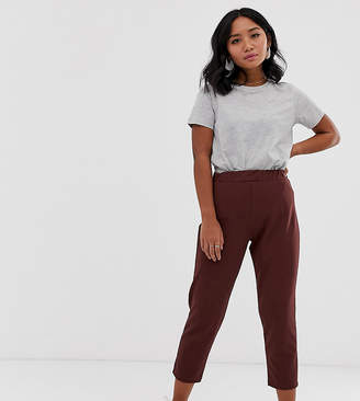 Asos DESIGN Petite pull on tapered pants in jersey crepe
