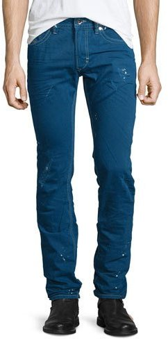 DieselDiesel Thavar Distressed Denim Jeans, Blue
