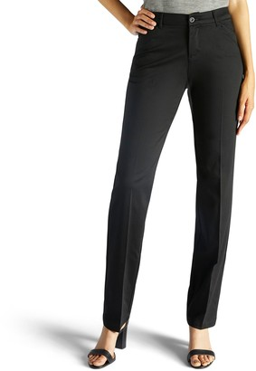 Lee Petite Flex Motion Straight-Leg Mid-Rise Pants
