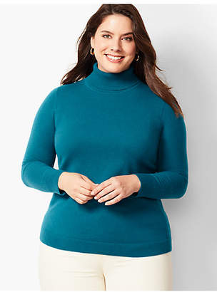 Talbots Cashmere Turtleneck Sweater - Solid
