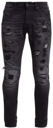 G Star Raw Distressed Zip Knee Jeans