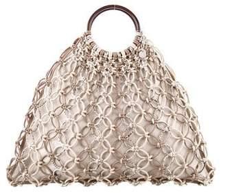 Michael Kors Snakeskin-Accented Cooper Bag