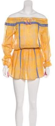 Lemlem Off-Shoulder Mini Dress