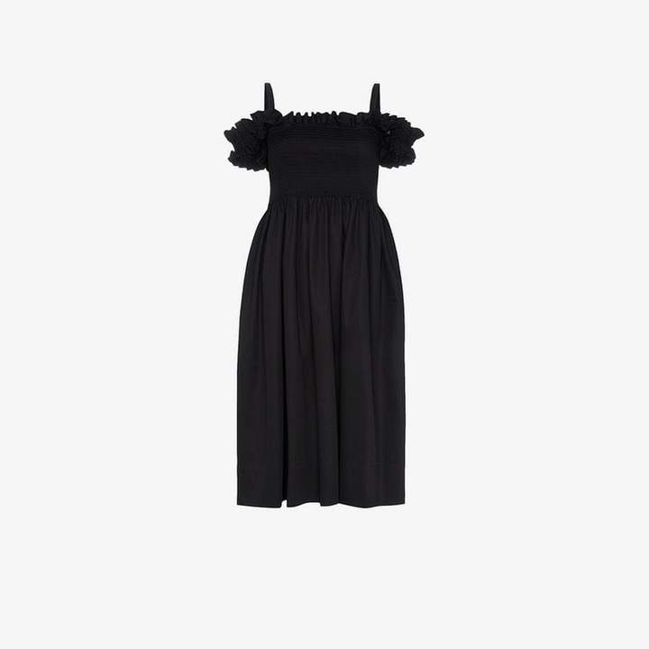 Molly Goddard Smock Midi-Dress