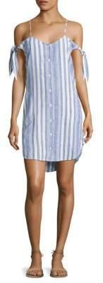Bella Dahl Striped Cold-Shoulder Dress