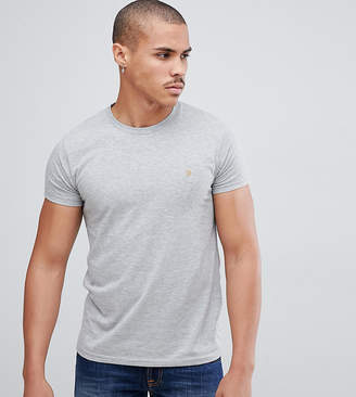 Farah Farris slim fit logo t-shirt in gray