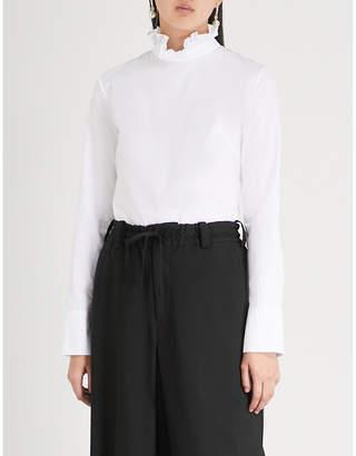 CECILIE BAHNSEN Nelly cotton-poplin shirt