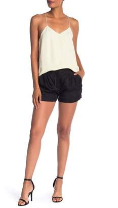 Tibi Cupro Pleated Shorts