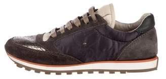 Brunello Cucinelli Suede Monili-Accented Sneakers
