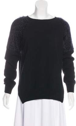 Anine Bing Long Sleeve Textured Sweater