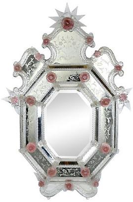 One Kings Lane Vintage Venetian Etched Mirror - Castle Antiques & Design