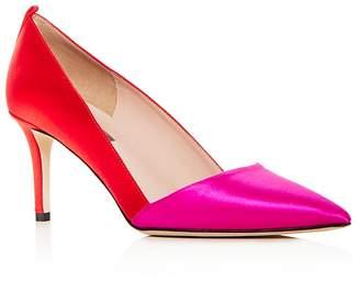 Sarah Jessica Parker Women's Rampling Satin Color Block Pointed Toe Pumps