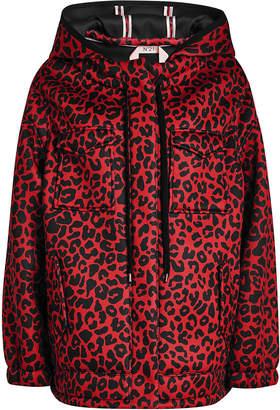 N°21 Leopard Print Hooded Jacket