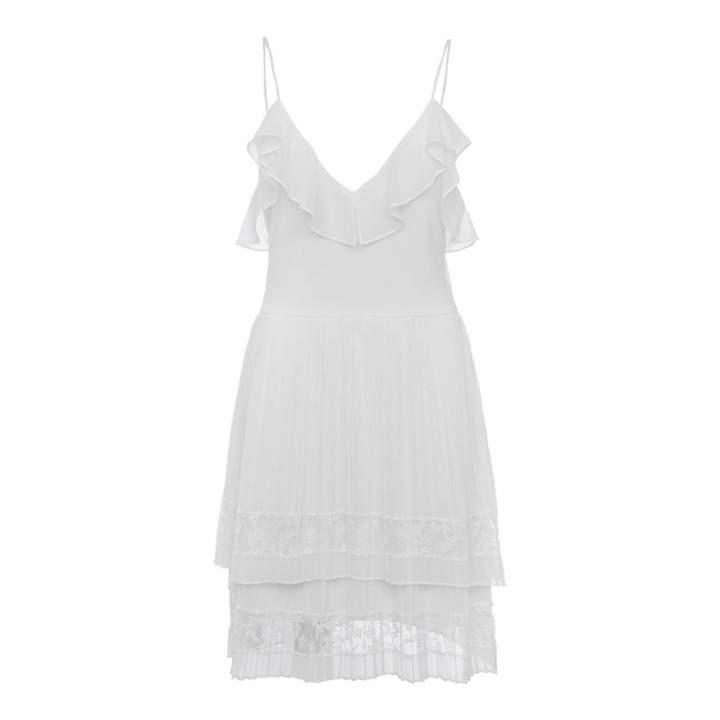 White Strappy Lace Dress