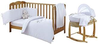 Clair De Lune Baby 10 Piece Moses Basket & Cot Bedding Nursery Starter Set