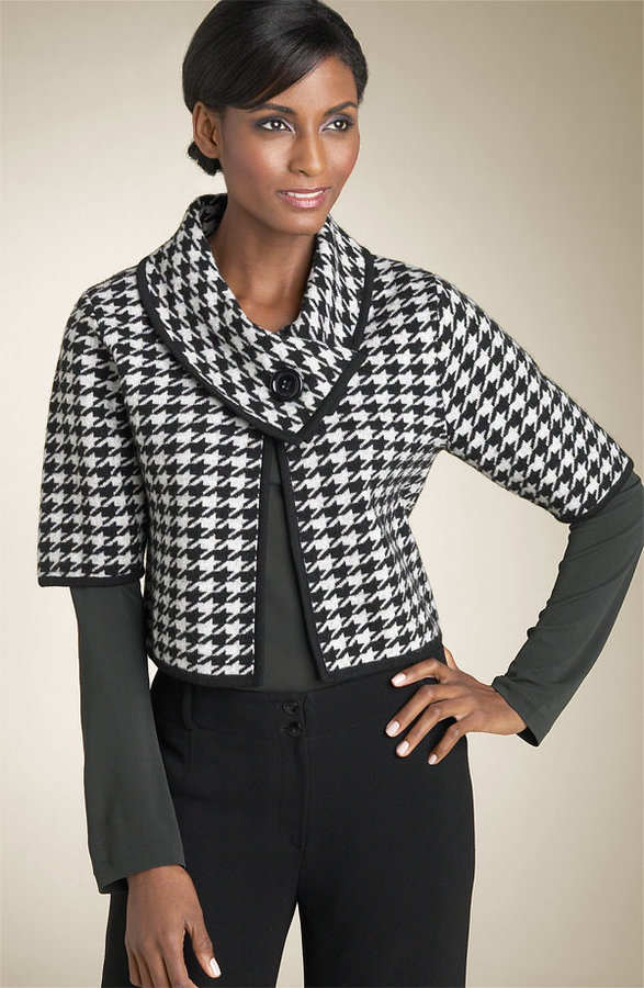 Anne Klein New York Houndstooth Jacket (Petite)