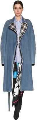 Balenciaga Cotton Denim Padded Trench Coat