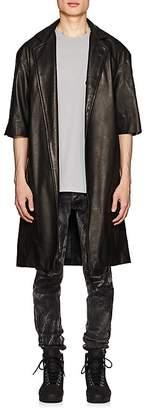 Fear Of God Men's Crop-Sleeve Leather Coat