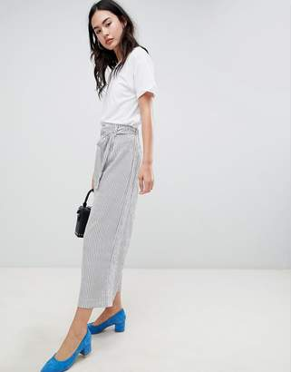 Brave Soul Dakota Crop Trousers in Stripe