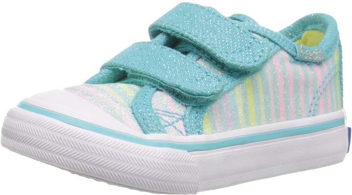 Keds Kids Glittery HL First Walker Shoes, Turq/Multi/Stripe Sugar Dip