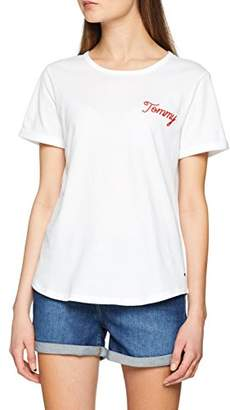 ... Tommy Hilfiger Women s Denise Round-nk Tee Ss T-Shirt, (Classic White 97bc069ece2b