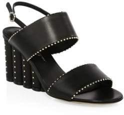 Salvatore Ferragamo Gavi Studded Wedge Sandals