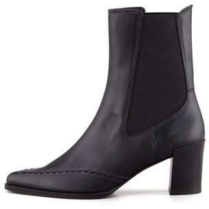 Derek Lam Rocco Pointy-Toe Ankle Boot, Black