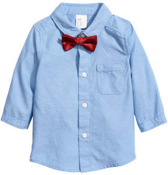 H&M Shirt and Bow Tie - Blue