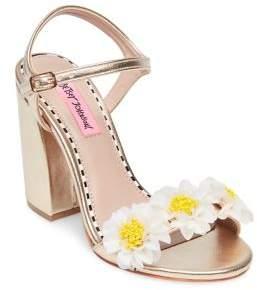 Betsey Johnson Sedona Flower Ankle-Strap Sandals