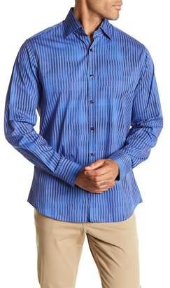 Stone Rose Bold Stripe Slim Fit Shirt