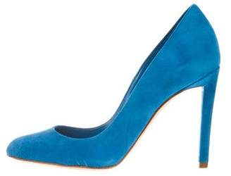Christian Dior Suede Rounded-Toe Pumps