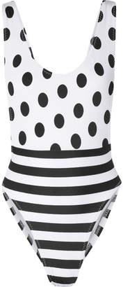 Norma Kamali Marissa Printed Swimsuit - White