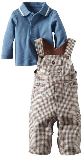 Little Me Baby-boys Newborn Country Gent Overall Set