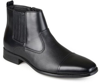Daxx Men's Cap Toe Faux Leather Dress Boots